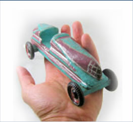 vintage pinewood derby car