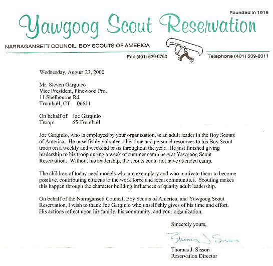 volunteer letter format gallery sles letter of reciation 2000 bsa cub scout donations - Volunteer Appreciation Letter Sample