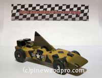 Pinewood Derby car made in Iraq