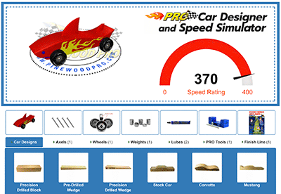 pinewood derby car designer
