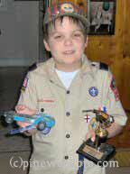Pinewood Derby district winner