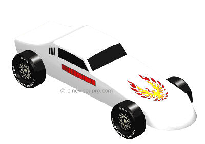 Firebird Pinewood Derby Design