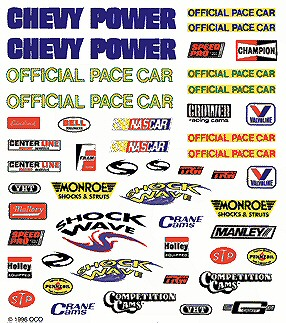 NASCAR pinewood derby car decal image