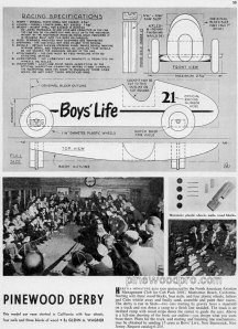 PINEWOOD DERBY - Boy's Life 1954
