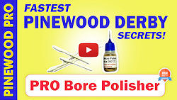 pinewood derby wheel bore polishing kit video