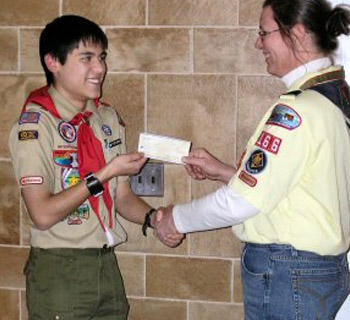 Cub Scout Pinewood Derby donation