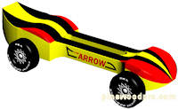 arrow pinewood derby car image