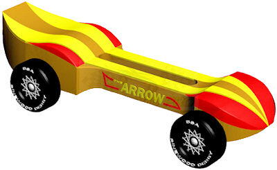 Pinewood Derby Car Design - Arrow