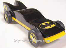 batmobile pinewood derby winner