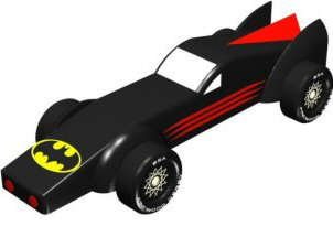 Pinewood Derby Design Batmobile Car