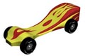 Flames Pinewood Derby Car