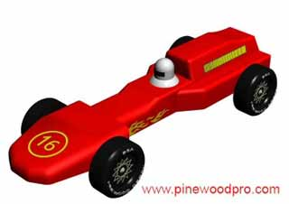 grand prix pinewood derby car
