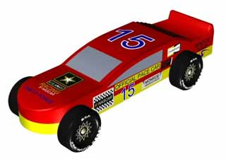 NASCAR pinewood derby car