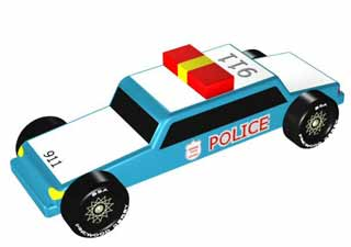 Police Pinewood Derby Car