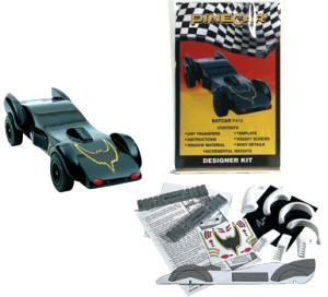 batmobile pinewood derby kit picture