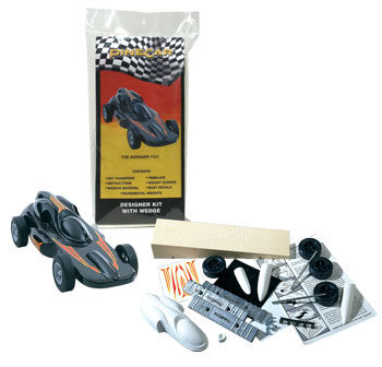avenger pinewood derby car kit picture
