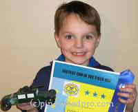 Humvee design pinewood derby car winner