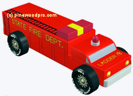fire engine pinewood derby car design plan