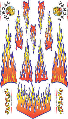 pinewood derby flames decal