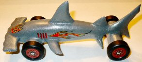shark pinewood derby car picture image