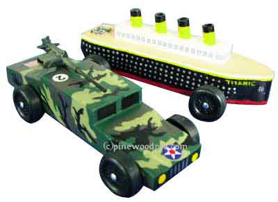 Humvee pinewood derby car 3