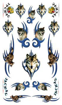 wolf derby car decals