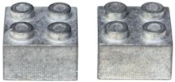 LEGO zinc brick weight
