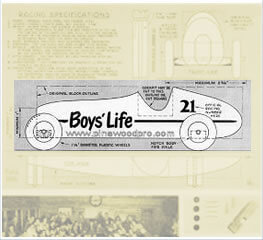 original pinewood derby car design drawing