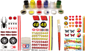 pinewood derby paints, decals, stickers