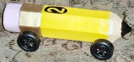 picture of girls pinewood derby car