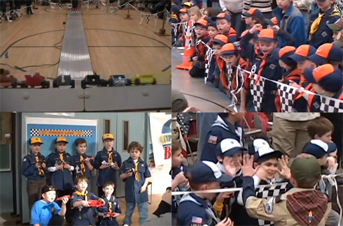 Pinewood Derby Race Video Winners