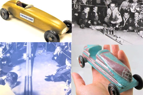 Winning Vintage Pinewood Derby cars video
