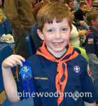 1st place pinewood derby winner