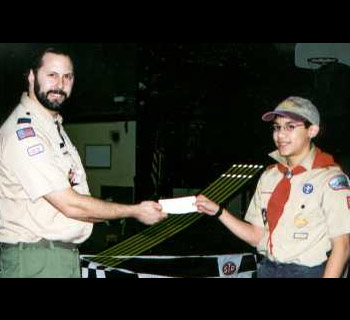 Cub Scout Derby donation picture