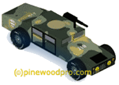 Army Humvee Pinewood Derby Car
