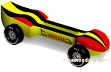 Arrow Pinewood Derby Car