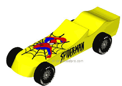 spiderman pinewood derby design