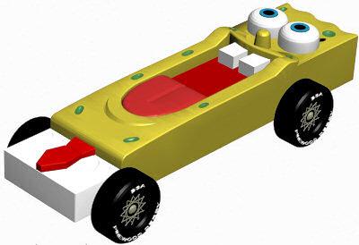 Beautiful Spongebob Pinewood Derby Car Design Plan