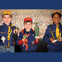 Cub scout top finishers in Pinewood Derby