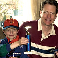 Father and Son Pinewood Derby Winner