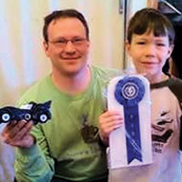 Pinewood Derby Winner with Ribbon