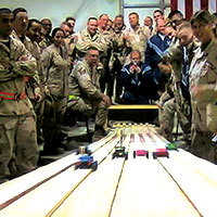 First Pinewood Derby in Iraq