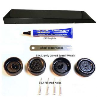 Black Barracuda complete pinewood derby car kit image