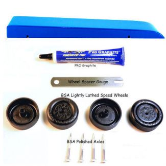 Blue pinewood derby complete car kit image
