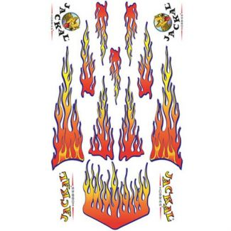 Flames - Pinewood Derby Car Decals