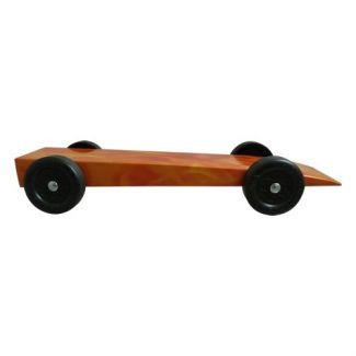 fully built pinewood derby flames car