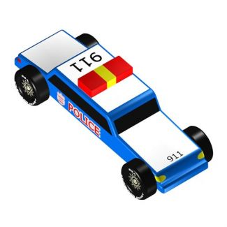Pinewood Derby Car Design Plan Police Car