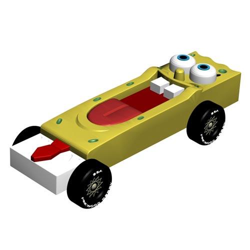 SpongeBob   INSTANT DOWNLOAD Pinewood Derby Car Design Plan